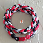 Phiten Triple Braid - CardinalRed/Black/White Custom