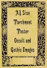 A4 Parchment Poster Occult Gothic Wicca Witchcraft