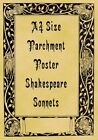 A4 Parchment Poster Shakespeare Sonnets Summers Day