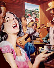 1576 Country music celebration scene Vintage POSTER. Decorative Art.Guajiros