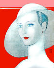 1627 Beautiful classic lady wears hat vintage POSTER.wall Fashion Decorative Art
