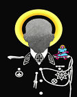 1778 Man with no face wears black military suit quality POSTER. Decorative Art.