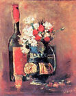 """Vincent Van Gogh- Vase of white carnations and rose - 20""""x26"""" Art Canvas"""