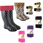 Ladies Plain Fleece Wellie Socks Welly Warmers Socks by Anucci 100% Polyester