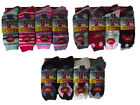L33 LADIES 12 FUNKY WINTER WARM THERMAL HIKE BOOT SOCKS STRIPES SPOTS ARGYLE 4-7