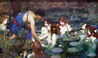 "Hylas and the Nymph  by John  Waterhouse-  20""x32"" Art  Canvas"