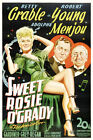 Betty Grable  SWEET ROSIE OGRADY 24x36Canvas Classic Movie Poster