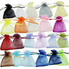 25/50/100 pcs Organza Jewelry Wedding Gift Pouch Bags 7x9cm 3X4 Inch