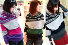 Womens Fashion Pullover Bat Sleeve Sweater Knitwear Ladies Knit Tops Casual S350