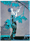 3029.Fashion lady trying to catch bird POSTER.Home bedroom decor.Interior room