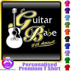 Acoustic Guitar Babe With Attitude 2 - Music T Shirt 5yrs - 6XL by MusicaliTee