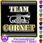 Cornet Team - Personalised Music T Shirt 5yrs - 6XL by MusicaliTee