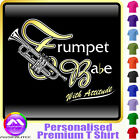 Trumpet Babe With Attitude - Custom Music T Shirt 5yrs - 6XL by MusicaliTee