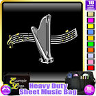 Harp Curved Stave - Sheet Music & Accessories Personalised Bag by MusicaliTee