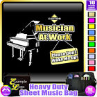 Piano Dont Wake Me - Sheet Music & Accessories Personalised Bag by MusicaliTee
