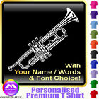 Trumpet Picture With Your Words - Custom Music T Shirt 5yrs - 6XL by MusicaliTee