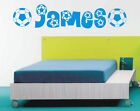 Personalised Football wall art sticker name style A, any name available