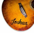 2 x PERSONALISED NAME vinyl guitar stickers - Any text you like! Various colours