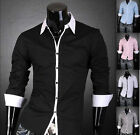 JS New Men's Designer White Line Shirts Top 3 Colors 4 Size J1073 ~~USA Seller