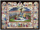 Decor religious Poster. Fine Graphic Art design. Life of Mary mother of God 1235