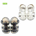 NEW Baby Boys Kids Soft Leather Sandals Slip on Size 3M-5YR in White-Brown-Black