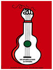 Que levante la mano la guitarra Decor Poster.Graphic Art Interior design.3385