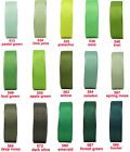 "16mm 5/8"" Green Moss Emerald Grosgrain Ribbon Eco Quality Holiday Wedding Craft"