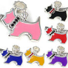 Wholesale Lot 6pcs Silver CZ Puppy Dog European Spacer Charm Beads For Bracelet