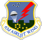 STICKER USAF  63RD AIRLIFT WING