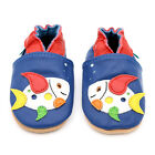 NEW SOFT LEATHER BABY SHOES 0-6,6-12,12-18,18-24mths DOTTY FISH