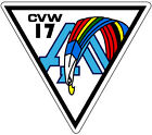 STICKER USN CVW 17 CARRIER AIR WING