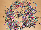 Approx 200 Round Dome Rhinestones Flat Back Gems Various Colours 4mm