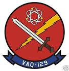STICKER USN VAQ 129 ELECTRONIC ATTACK WING