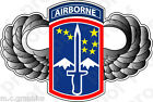 STICKER US ARMY UNIT 172ND AIRBORNE WINGS