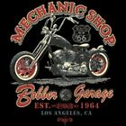MECHANIC SHOP BIKER LOS ANGELES VINTAGE LOOK T SHIRT