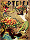 "178.Art Poster""Fruit vendors""Street seller.Decoration artist.interior designer"