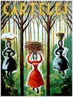 "215.Quality interior Design poster""3 Peasant Farmer Girls w/ Head Loads""Office"