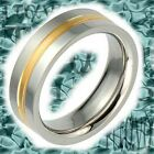 Stainless Steel Band 2 Tone Jewelry Men's Wedding Band