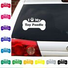 I Heart Love My toy poodle  decal sticker