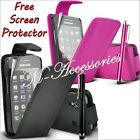 ★★ NEW FLIP PU LEATHER CASE COVER POUCH FOR SAMSUNG MOBILE PHONES + SCREEN GUARD