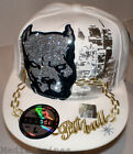 NEW HIP HOP PITBULL DOG FITTED WHITE BASEBALL HAT CAP