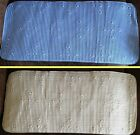 Extra Long Quilted Soft Anti Slip Slide Bath Shower Mat Rug Blue Cream Bathroom