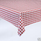 RED GINGHAM CHECK VINYL Dining Kitchen Table Protector