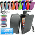LEATHER FLIP CASE COVER POUCH + SCREEN PROTECTOR FOR IPOD TOUCH 4 4G 4TH GEN