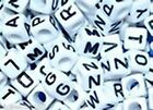1000 pcs 6mm white cube alphabet single letter beads choice of  A - Z