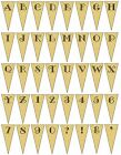 Personalised Parchment Bunting GALLERY Font  - Ideal for Wedding OR Party