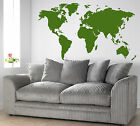 Map fo the World Giant Wall Art Sticker,Vinyl WA115 Iconic Image