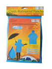 CHILD EMERGENCY WATERPROOF PONCHO CHILDREN WINTER RAIN COAT KID BOY GIRL CAMPING