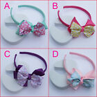 New Wholesale Lot 3 PC Girls Baby Cute Dot Bow Flower Hair Top Headbands