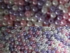 1000 Acrylic Faux Pearl Beads 4mm Choice of Colours Ivory, Pink, Lilac /MIX Pack